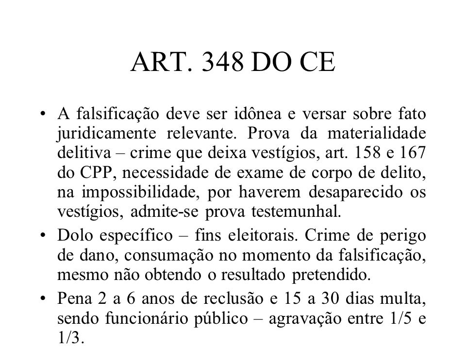 ART. 348 DO CE