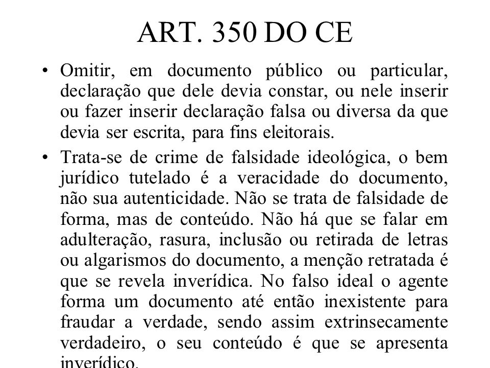 ART. 350 DO CE