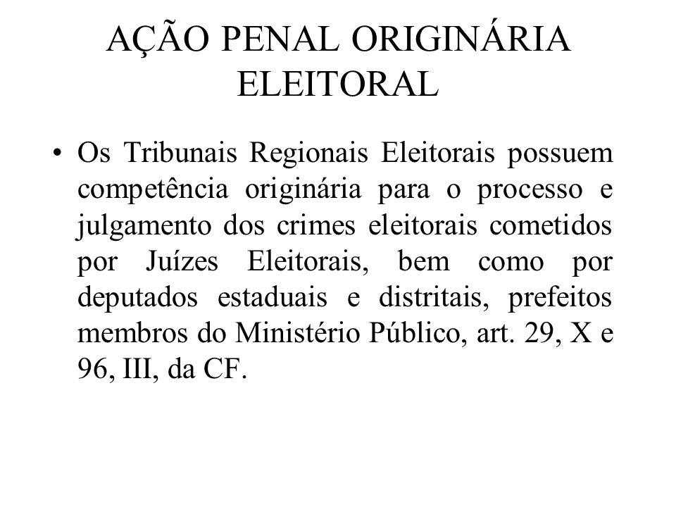AÇÃO PENAL ORIGINÁRIA ELEITORAL