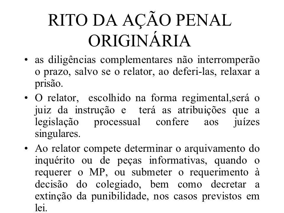 RITO DA AÇÃO PENAL ORIGINÁRIA