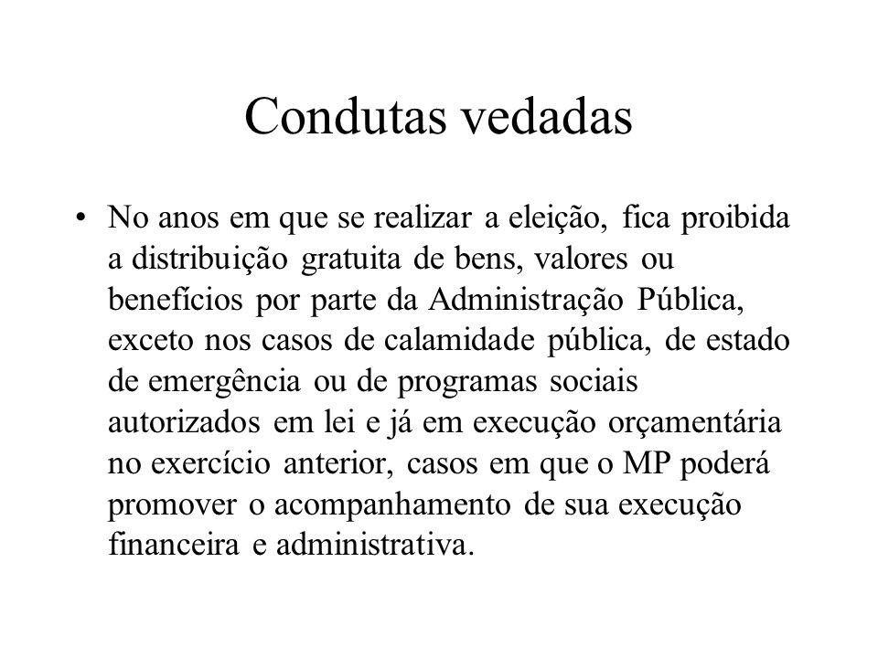 Condutas vedadas
