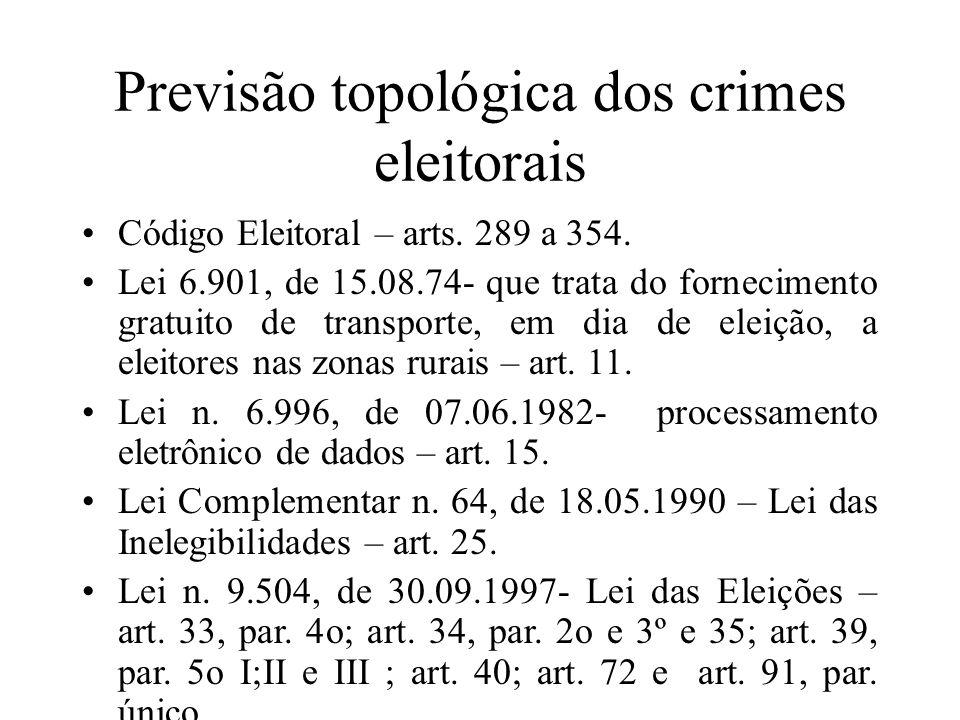 Previsão topológica dos crimes eleitorais