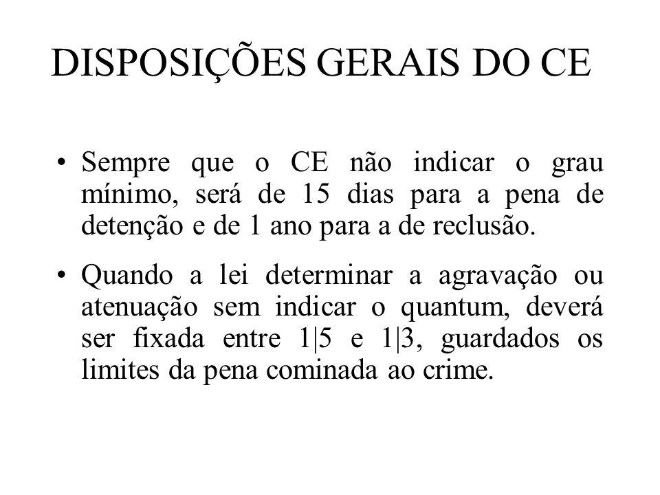 DISPOSIÇÕES GERAIS DO CE