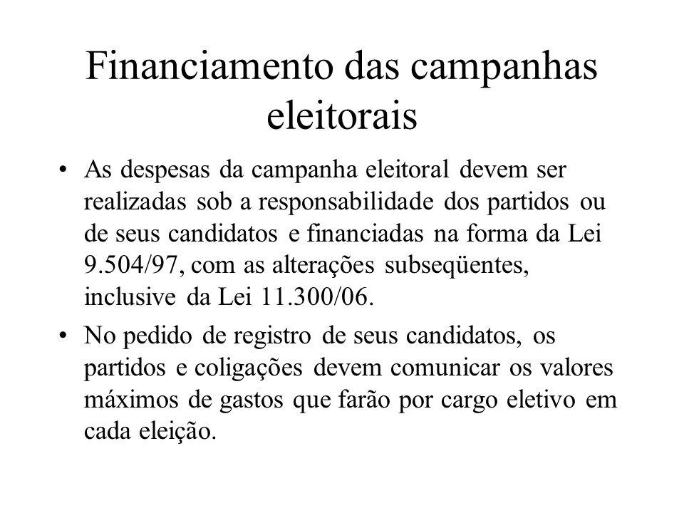 Financiamento das campanhas eleitorais