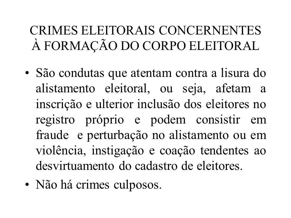 CRIMES ELEITORAIS CONCERNENTES À FORMAÇÃO DO CORPO ELEITORAL