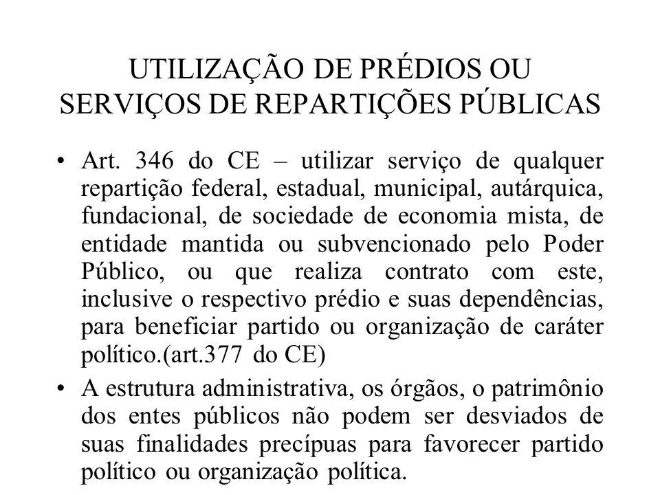 UTILIZAÇÃO DE PRÉDIOS OU SERVIÇOS DE REPARTIÇÕES PÚBLICAS