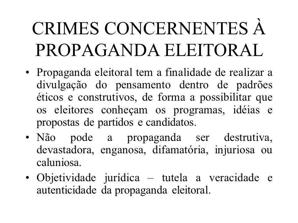 CRIMES CONCERNENTES À PROPAGANDA ELEITORAL