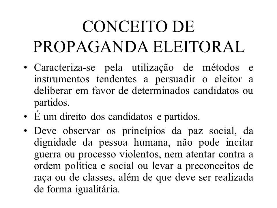 CONCEITO DE PROPAGANDA ELEITORAL