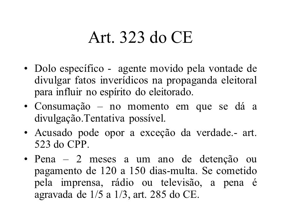 Art. 323 do CE