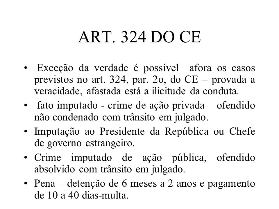 ART. 324 DO CE