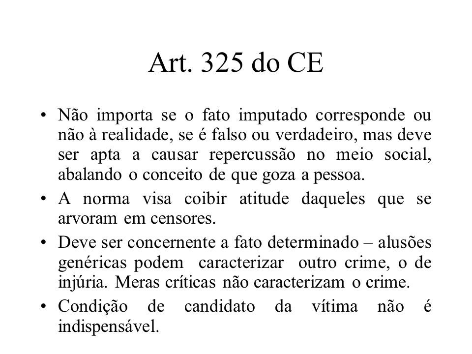 Art. 325 do CE