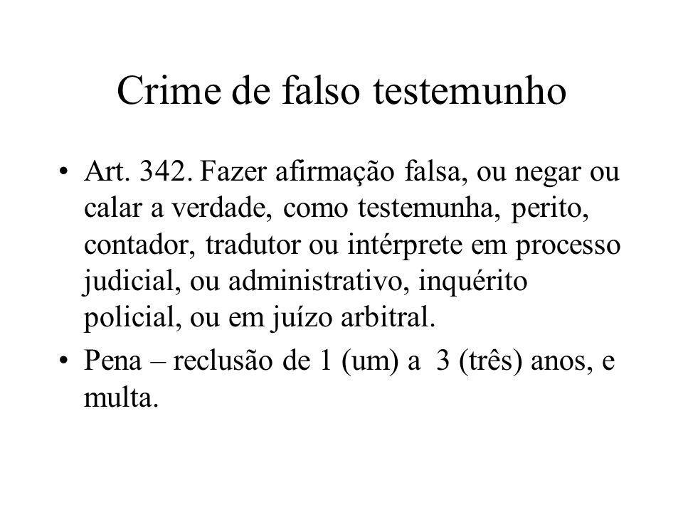 Crime de falso testemunho
