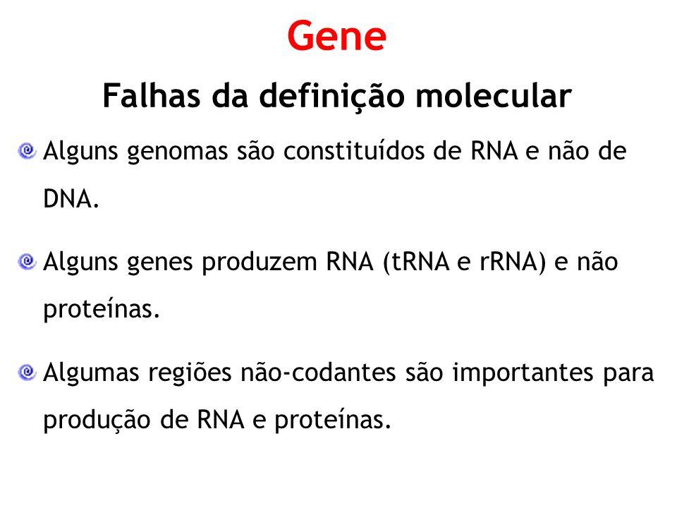 Falhas da definição molecular