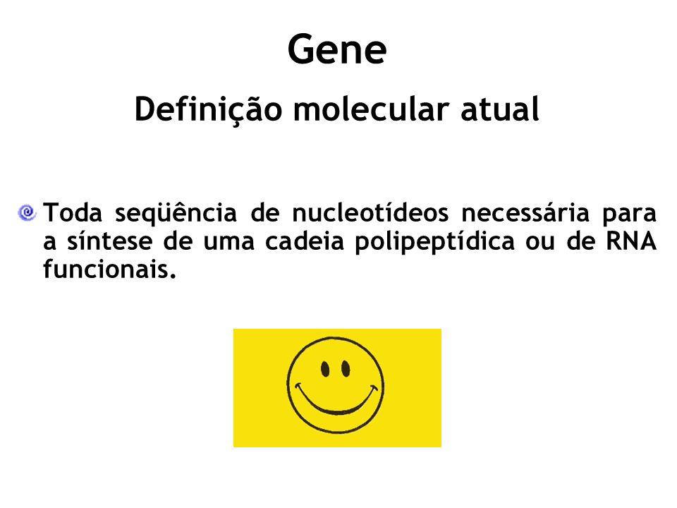Definição molecular atual