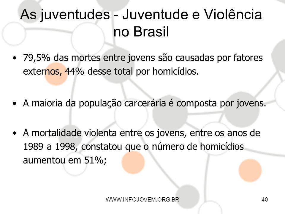 As juventudes - Juventude e Violência no Brasil