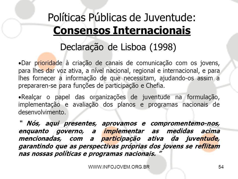 Políticas Públicas de Juventude: Consensos Internacionais