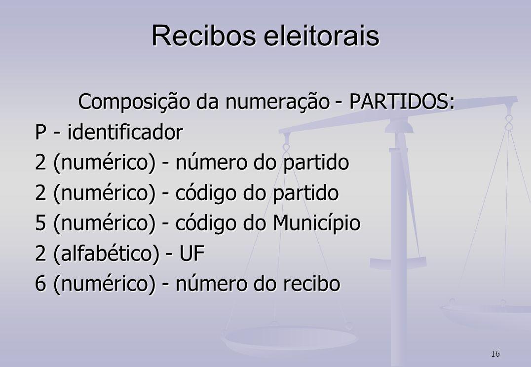 Recibos eleitorais