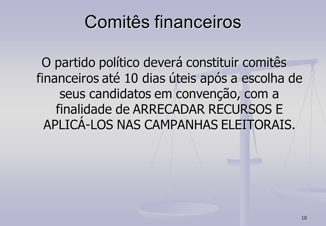 Comitês financeiros