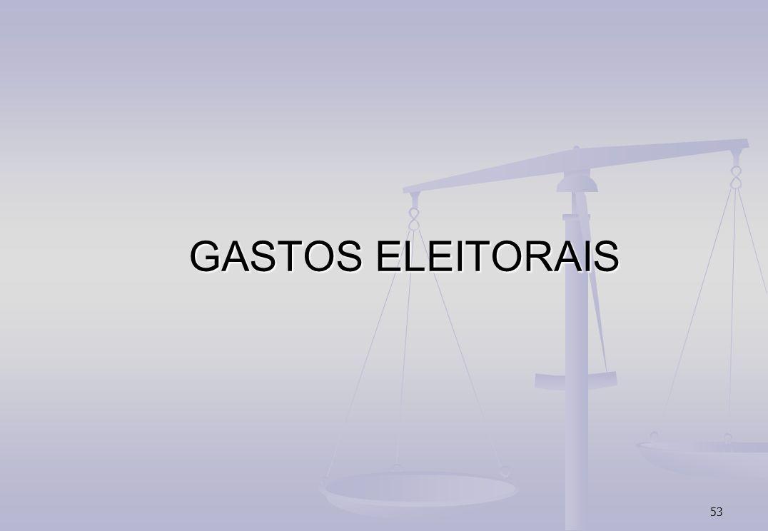 GASTOS ELEITORAIS