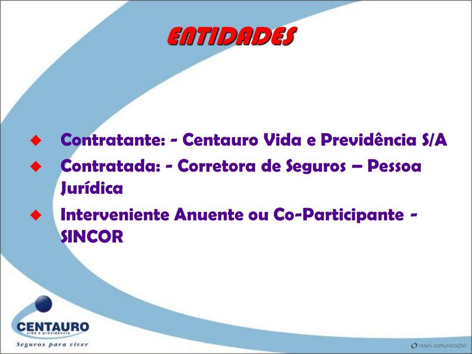 ENTIDADES Contratante: - Centauro Vida e Previdência S/A