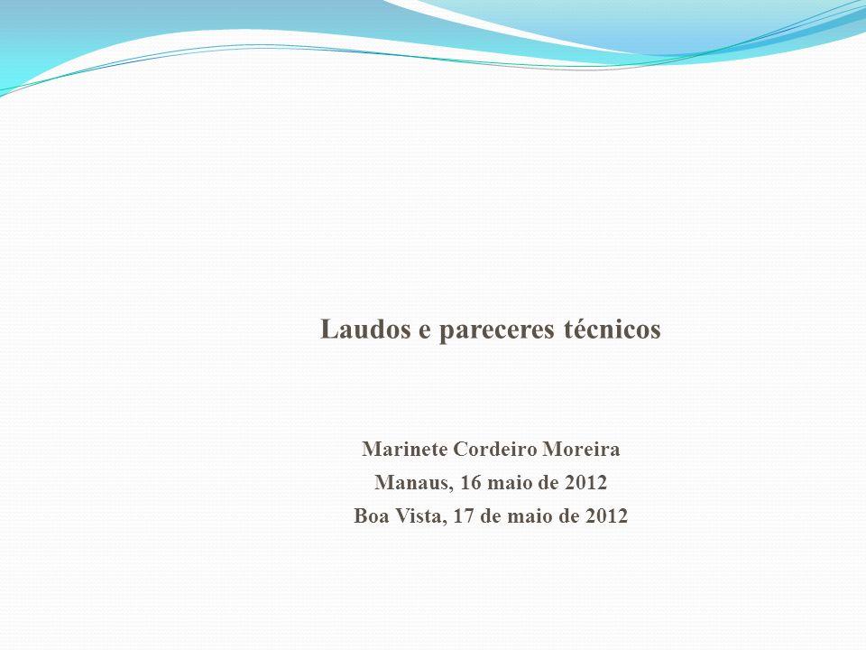 Laudos e pareceres técnicos Marinete Cordeiro Moreira