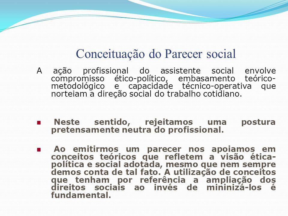 Conceituação do Parecer social
