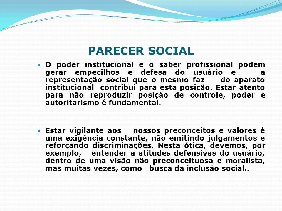 PARECER SOCIAL