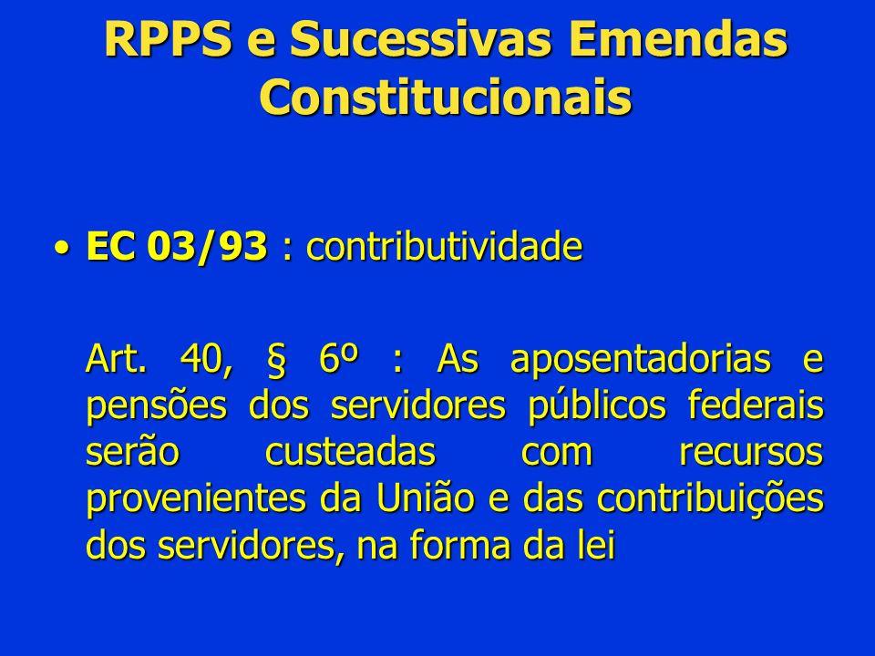 RPPS e Sucessivas Emendas Constitucionais