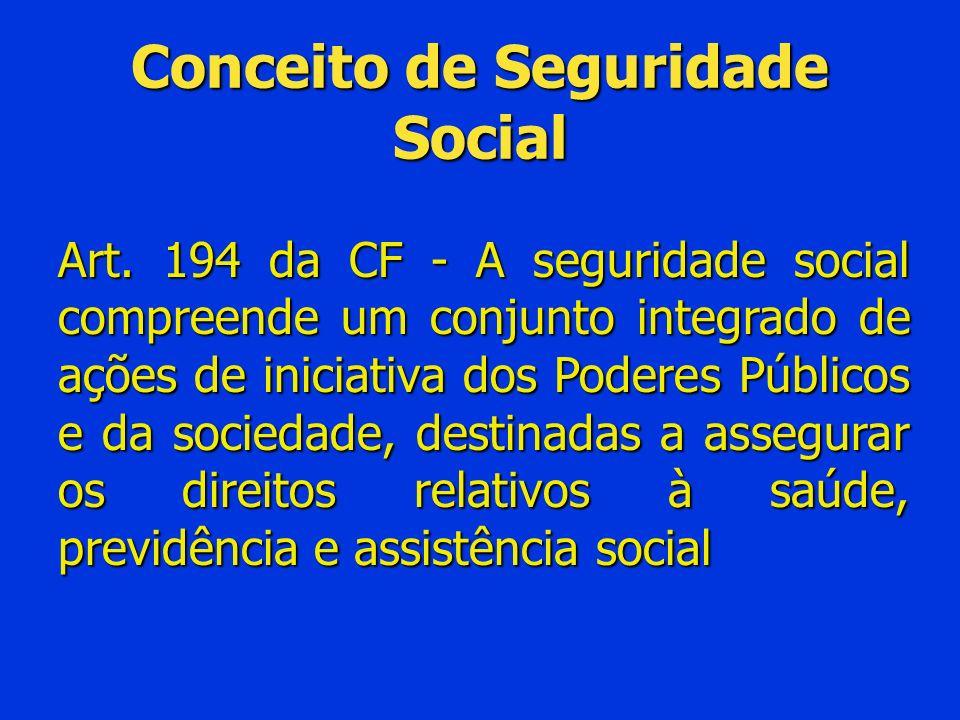 Conceito de Seguridade Social