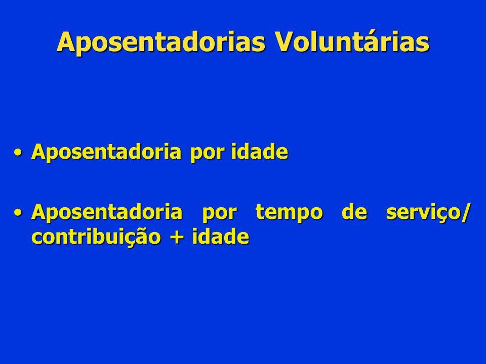 Aposentadorias Voluntárias