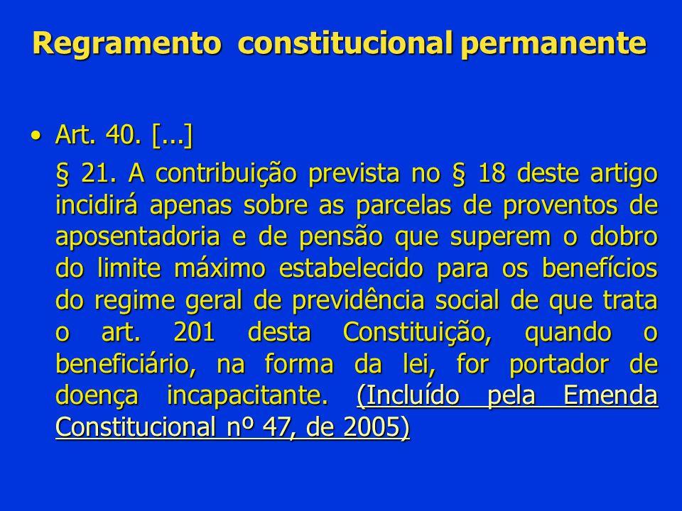 Regramento constitucional permanente