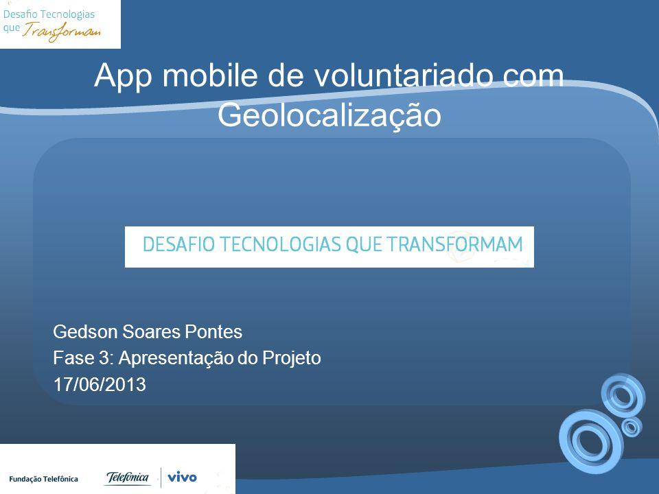 App mobile de voluntariado com Geolocalização