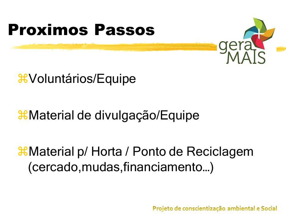 Proximos Passos Voluntários/Equipe Material de divulgação/Equipe