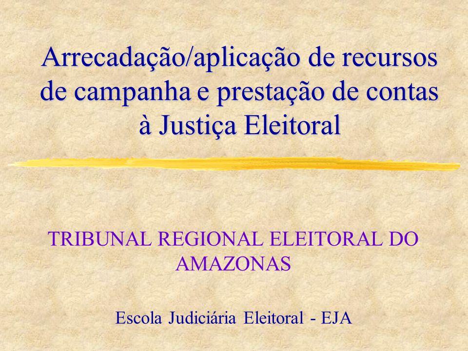 Arrecadação/aplicação de recursos de campanha e prestação de contas à Justiça Eleitoral