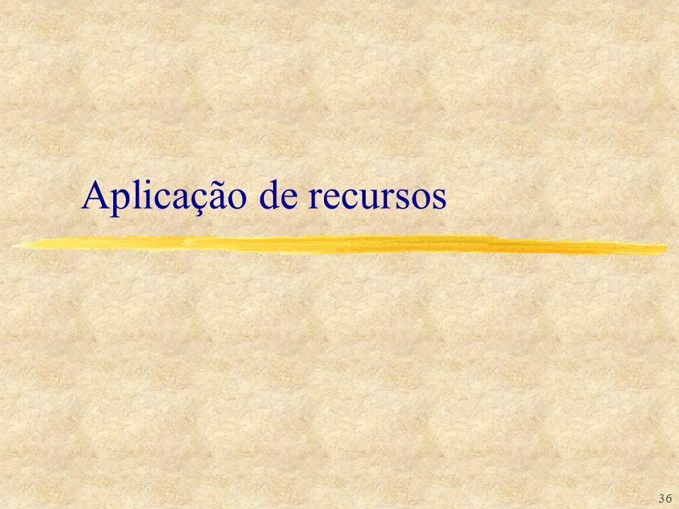 Aplicação de recursos 36 36