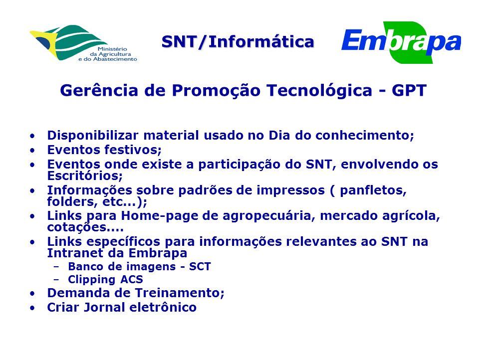 Gerência de Promoção Tecnológica - GPT