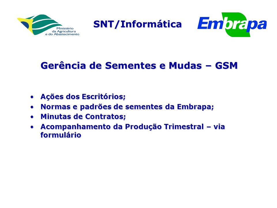Gerência de Sementes e Mudas – GSM
