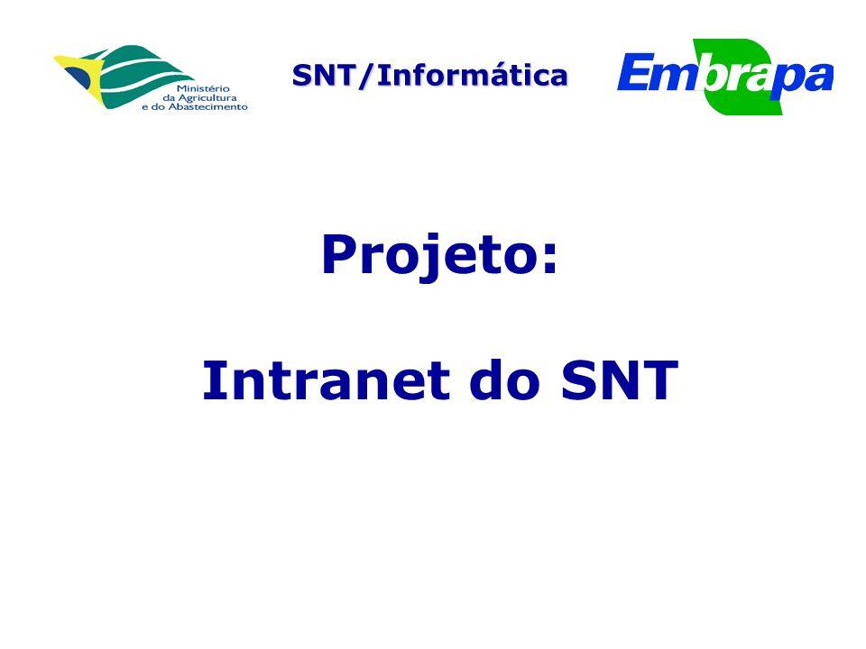 Projeto: Intranet do SNT