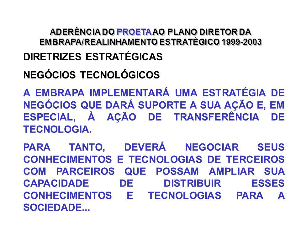 DIRETRIZES ESTRATÉGICAS NEGÓCIOS TECNOLÓGICOS