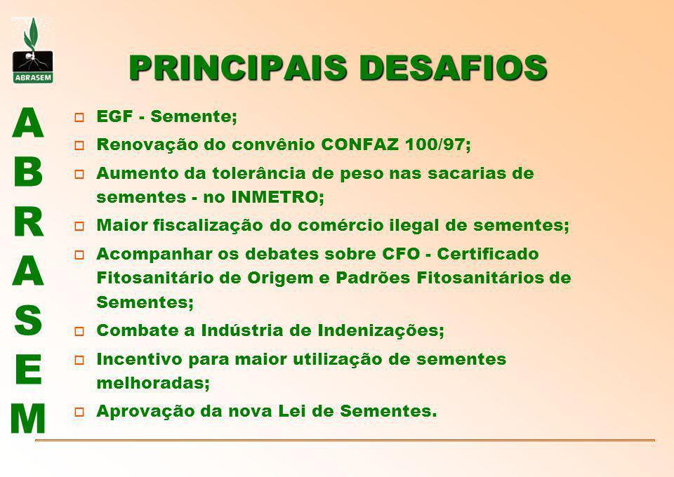 PRINCIPAIS DESAFIOS EGF - Semente;