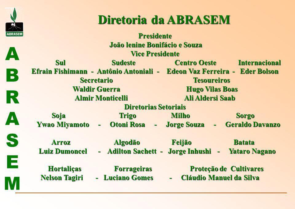 Diretoria da ABRASEM Presidente João lenine Bonifácio e Souza