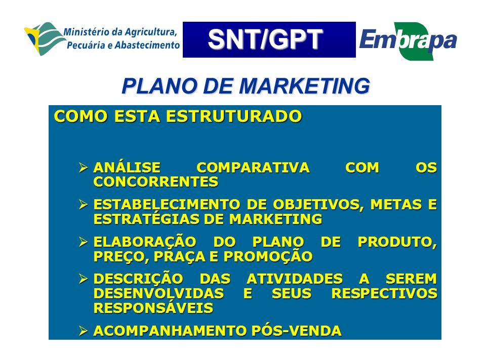 PLANO DE MARKETING COMO ESTA ESTRUTURADO