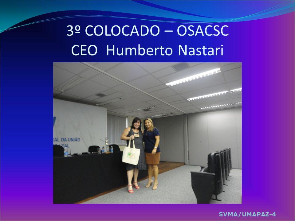 3º COLOCADO – OSACSC CEO Humberto Nastari