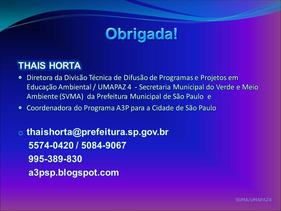 Obrigada! THAIS HORTA thaishorta@prefeitura.sp.gov.br