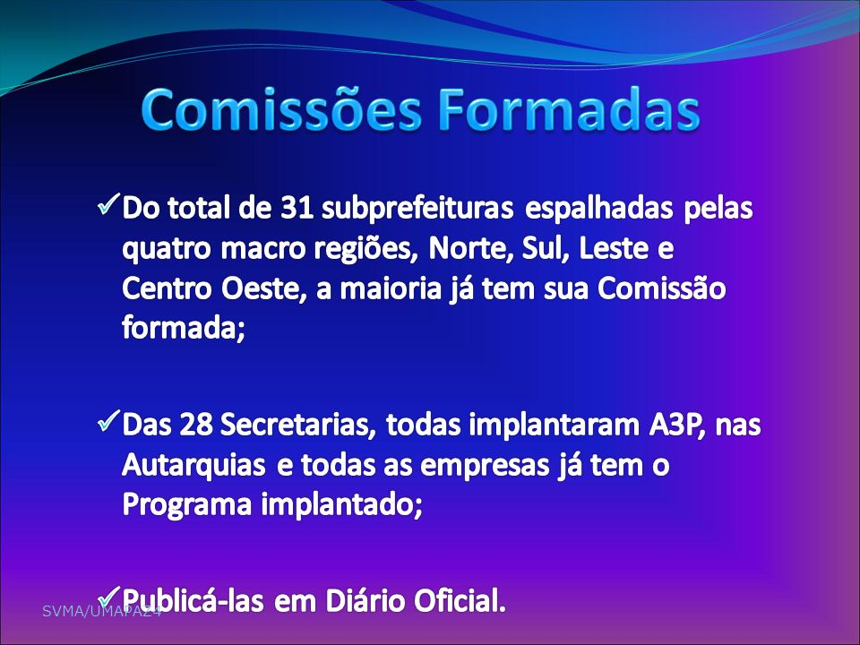 Comissões Formadas