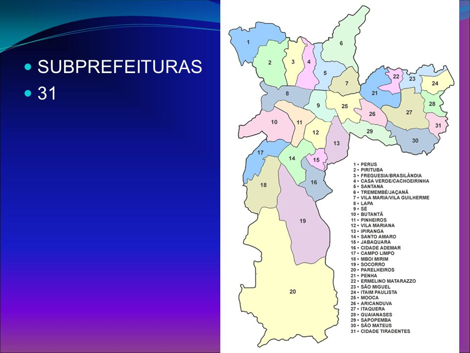 SUBPREFEITURAS 31