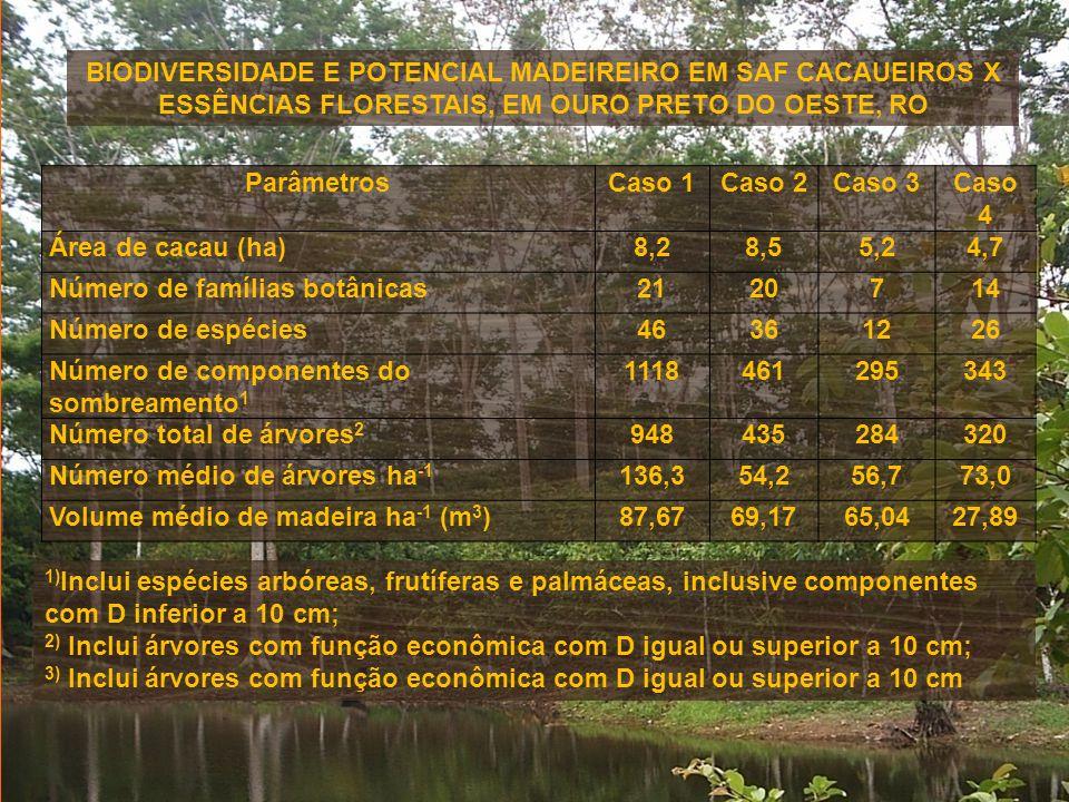 BIODIVERSIDADE E POTENCIAL MADEIREIRO EM SAF CACAUEIROS X ESSÊNCIAS FLORESTAIS, EM OURO PRETO DO OESTE, RO