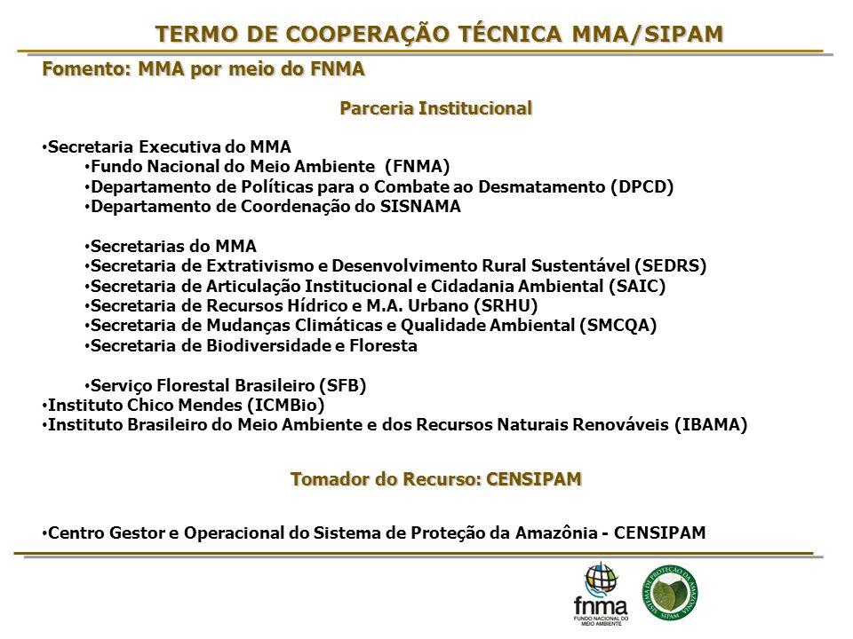 TERMO DE COOPERAÇÃO TÉCNICA MMA/SIPAM