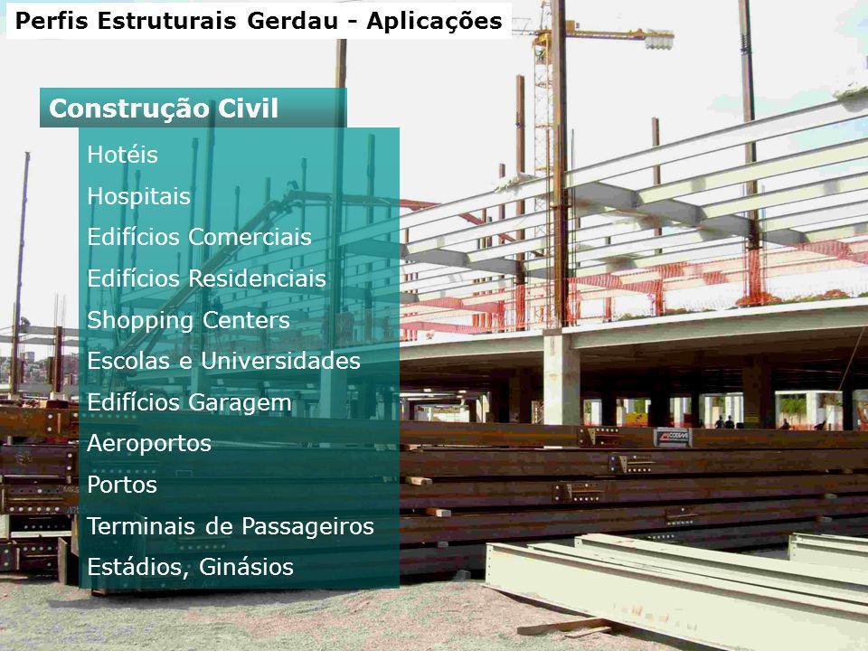 Construção Civil Perfis Estruturais Gerdau - Aplicações Hotéis