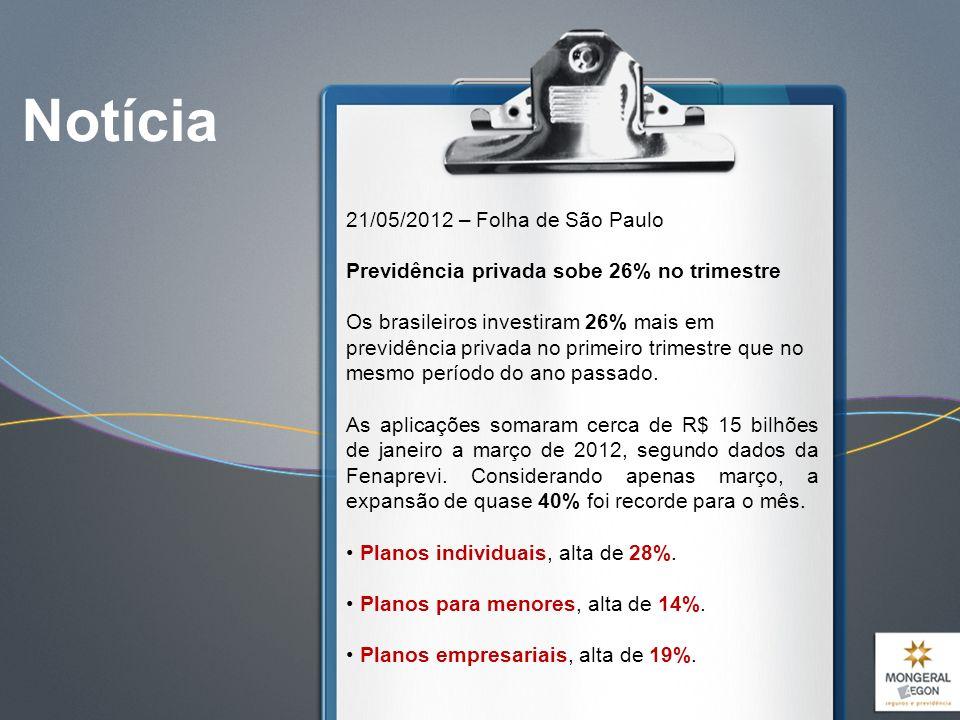 Notícia 21/05/2012 – Folha de São Paulo